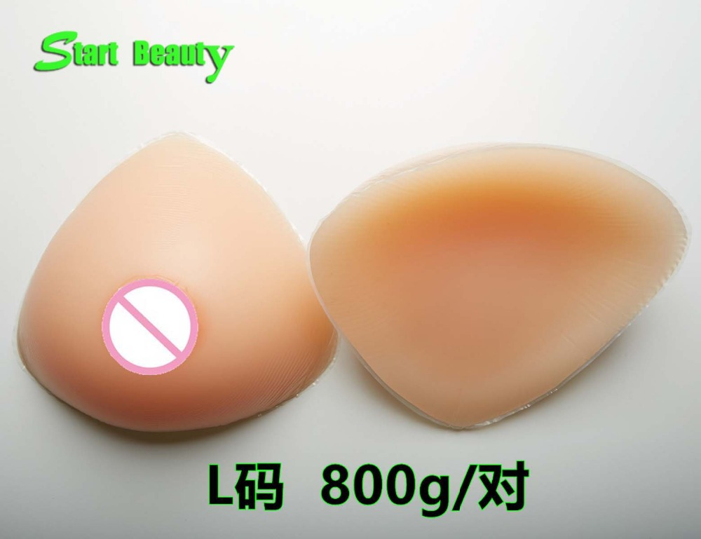 Buy 800g/pair C cup Silicone Breast Forms Fake Boobs Tits Shemale Artificial Nipple Breast Prosthesis shemale crossdresser