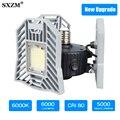 60 W Ha Condotto La Lampada Deformabile Garage luce E27 LED SMD 2835 Radar Casa di Illuminazione Ad Alta Intensità di Parcheggio Magazzino Industriale