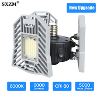 60W Led Deformable Lamp Garage light E27 LED SMD 2835 Radar Home Lighting High Intensity Parking Warehouse Industrial