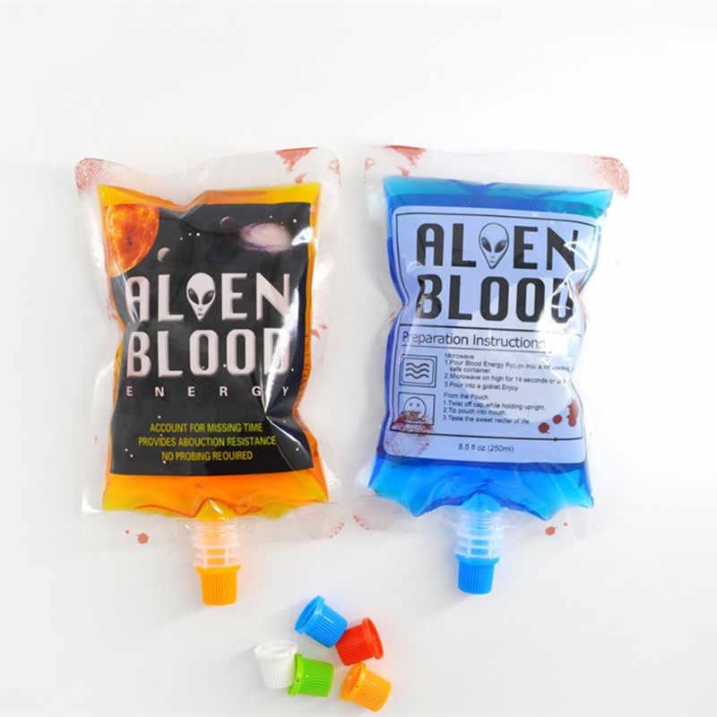 ฮาโลวีนคอสเพลย์เครื่องดื่มคอนเทนเนอร์แวมไพร์เลือด Props Props ผีดิบเครื่องดื่มเครื่องดื่มถุงอาหาร Class PVC น้ำขวด Decors