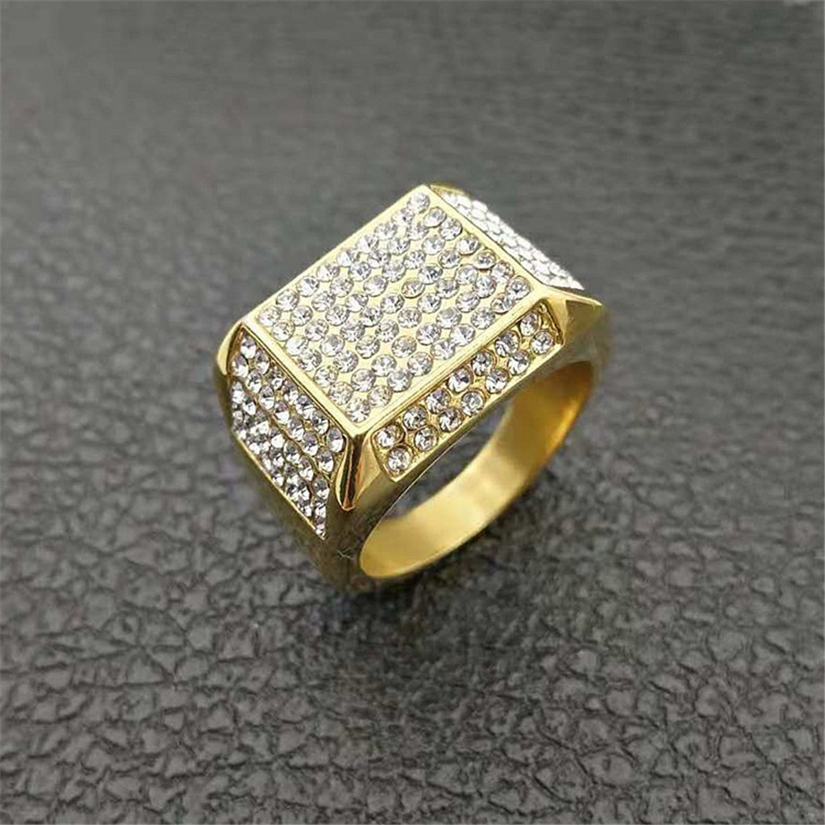 Stainless Steel Gold Color Plated 2 Color Scorpion Zodiac Sign Flat Band Ring