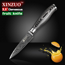 NEW 3.5″ inches fruit knife VG10 Damascus steel  kitchen knives paring kitchen knife parer knife  k133 wood handle FREE SHIPPING