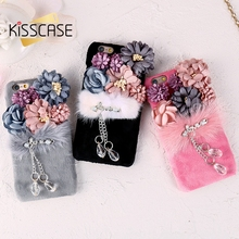 Блеск кулон телефон случаях для iphone 6 6s plus задняя крышка норки цветок горный хрусталь case для iphone 6s 6 роскошные сумки аксессуар