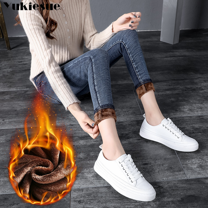 Winter   Jeans   for Women Plus Velvet Thicker warm Women's Clothing Stretch denim pencil   Jeans   Woman Warm Trousers Cowboy Pants