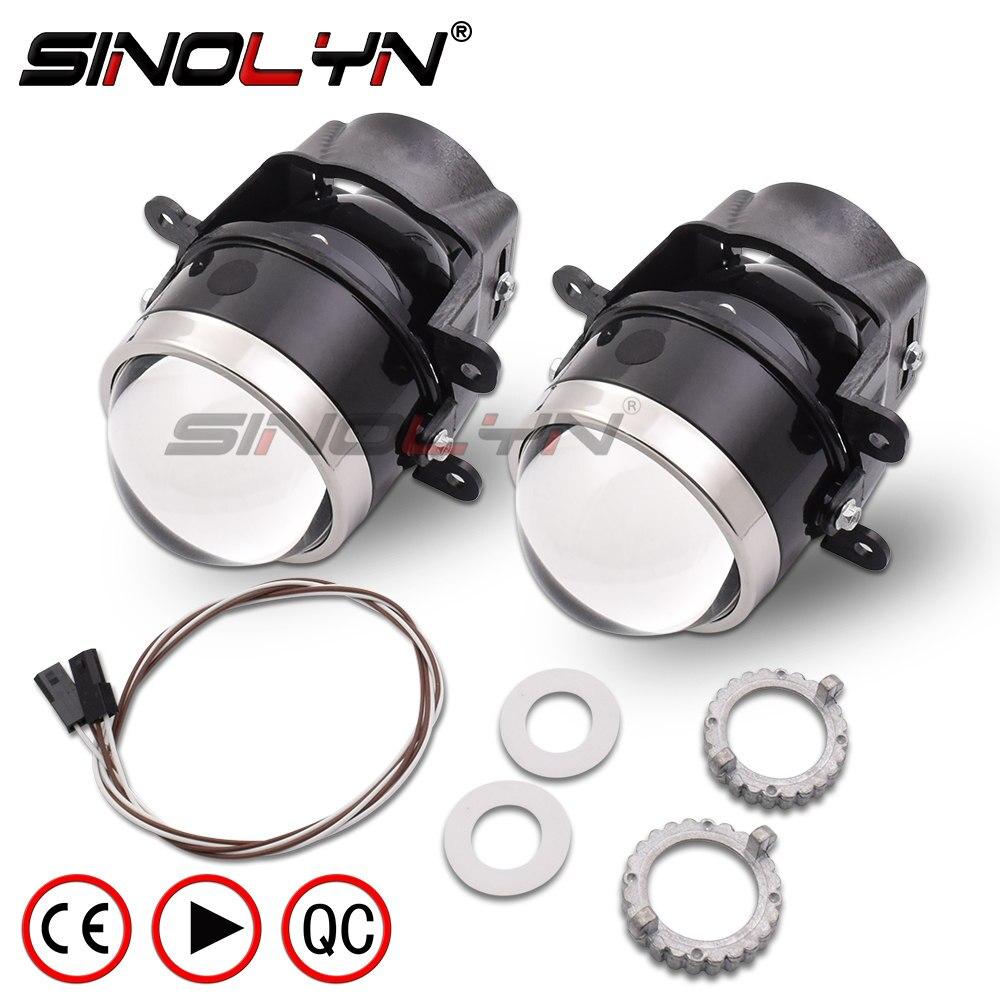 SINOLYN 3.0 pouces Bixenon projecteur antibrouillard lentille conduite lampe HID ampoule D2H étanche pour Ford Focus 2 3/PEUGEOT/RENAULT/SUBARU
