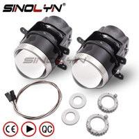 SINOLYN 3.0 inch Bixenon Projector Fog Light Lens Driving Lamp HID Bulb D2H Waterproof For Ford Focus 2 3/PEUGEOT/RENAULT/SUBARU