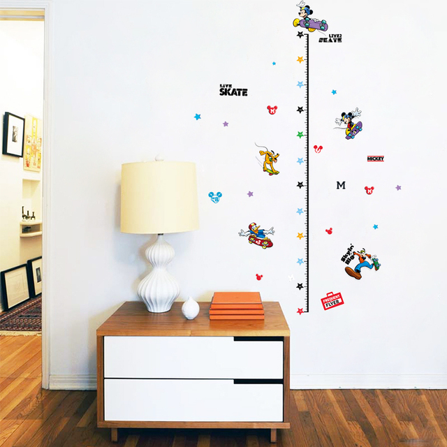 mickey mouse child height decor kids boys girls room growth chart