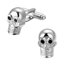 High quality copper material original skull skull Silver Cufflinks French men shirt cuff Cufflinks