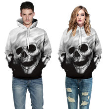Skateboarding Hoodies Skulls Hoodies Men/Women With Hat Print Skull Hooded Hoodies 3d sweater women Breathable Boys Girls(China)