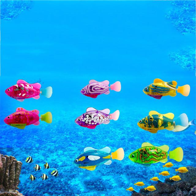 Aquarium Decor Activated Battery Powered Luminous Electric Fish Tank  Decoration Swimming Baby Bath Pet Toys