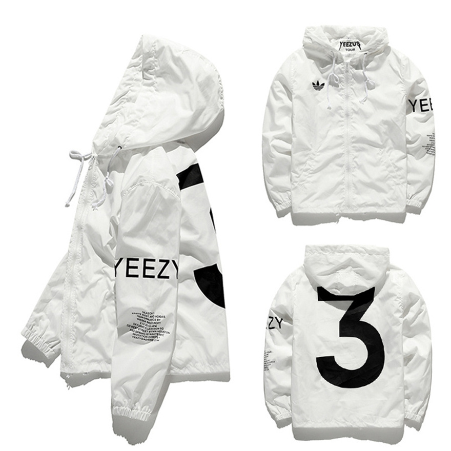 4fde690e29c Yeezus Jacket Men Virgil Abloh Yeezy Windbreaker 3 Yeezus Tour Kanye ...