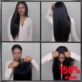 150% Densidad 8A Llena del cordón pelucas de pelo humano para las mujeres negras Glueless pelucas llenas del cordón del pelo virginal Brasileño recto pelucas delanteras del cordón