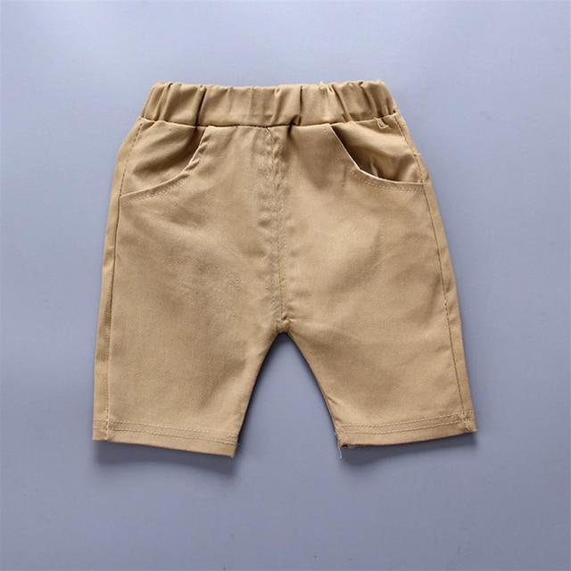 Newborn navy blue shirt and khaki short set for baby boy 4