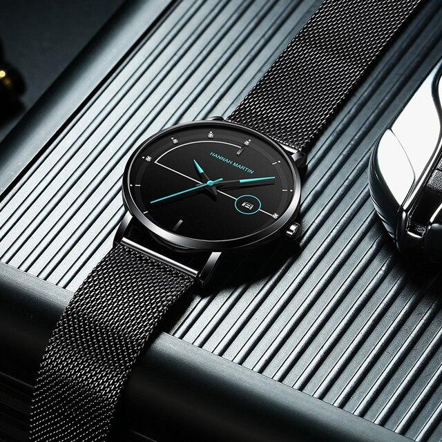 Men Watch Date Top Brand Luxury Japan Movement Quartz Casual Sport Stainless Steel Ultra Thin Waterproof Watch Relogio Masculino 2