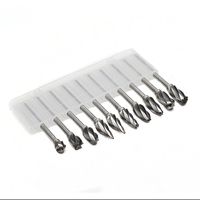 10pcs Aluma Cut Carbide Rotary Burrs For Aluminum 3mm 0 118 Shank Fits Die Grinder Drill