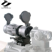 Tactical Hunting 30mm 3X Magnifier Scopes Optics Focus Adjusted Fits Red Dot Sight with Picatinny Weaver Rail Mount