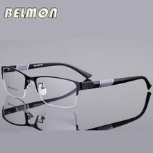 Belmon Spectacle Frame Men Eyeglasses Korean Nerd Computer Prescription Optical For Male Eyewear Clear Lens Glasses RS077