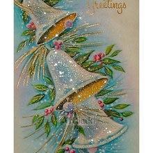 Лидер продаж 5d Diy бриллиантовый рисунок Рождество колокол икона набор полное алмазное сверло для квадратных отверстий вышивка 3d Алмазная мозаика художественная работа