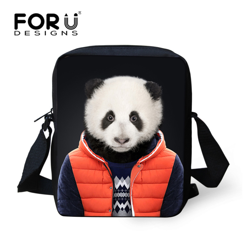 Black Children School Bags 3D Animal Panda Cat Printing Schoolbag for Kids Mini Middle School Girls Grade Shoulder Book Bags