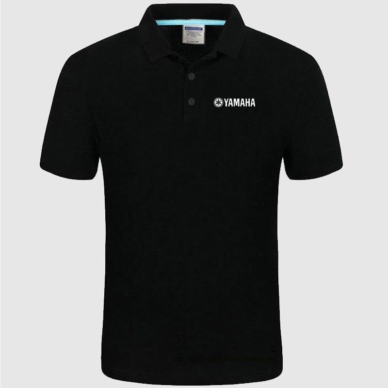 Yamaha logo   Polo   Shirt Men summer Short Sleeve   Polo   Shirt Cotton spring Casual Men's   Polos