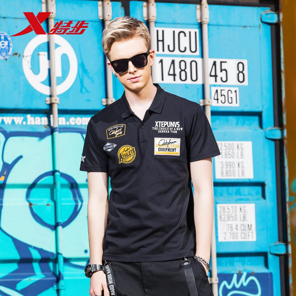 882129029010 Xtep Short-sleeved Polo Shirt 2018 Summer New Sports Casual Men's T-shirt Golf Clothing