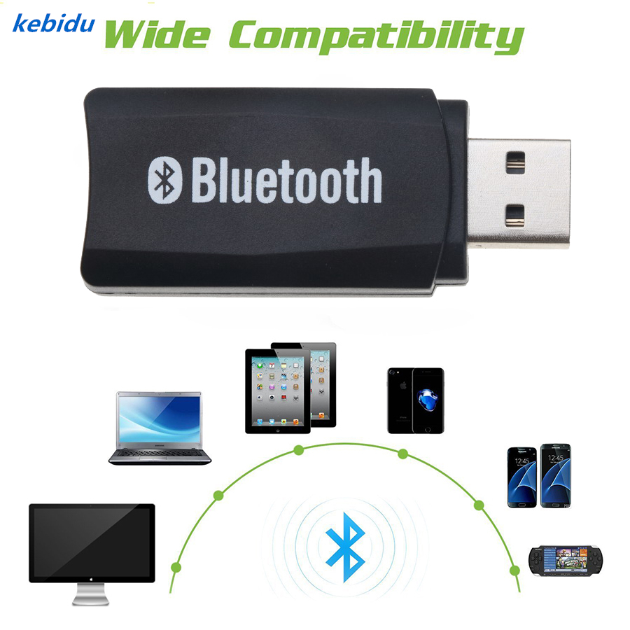 Kebidu Wireless USB Bluetooth Music Audio Stereo Receiver
