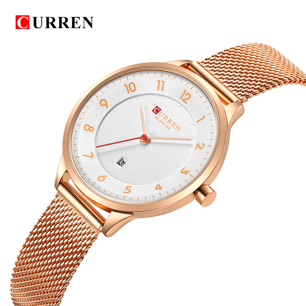 Curren 9035B Fashion women's watches Stainless Steel Gold watch women Curren Hot Selling Ladies Watch Quartz women watches fashion women watches funny comment women men wrist watches who cares im already late ltter print ladies gift 2017 hot selling