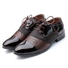 Men Dress Shoes Plus Size 38-48 Men Business Flat Shoes Black Brown Breathable Low Top Men Formal Office Shoes