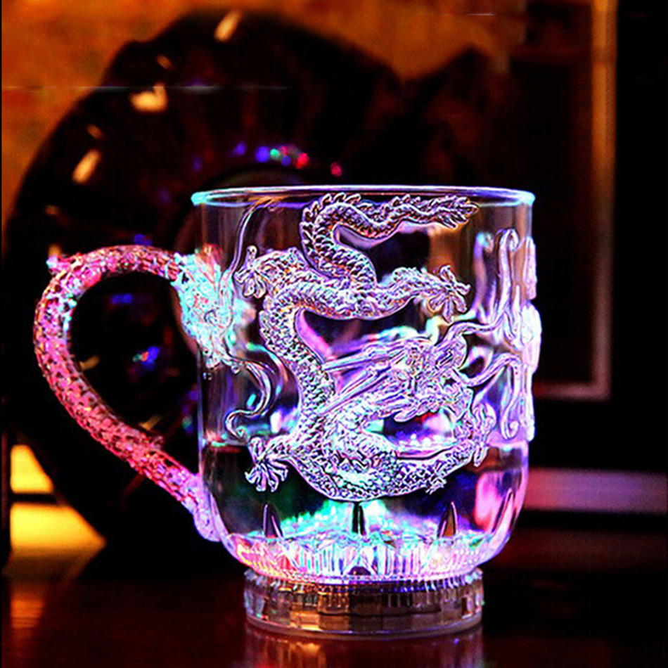 Christmas Colorful LED Beer <font><b>Cup</b></font> Novelty Beer Mugs With Flash <font><b>Light</b></font> Shot Drink Glass Bar KTV Night Club Kitchen Accessories