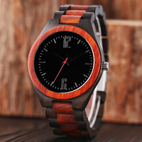Bangle Quartz Wrist Watch Modern Men Casual Fold Clasp Women Fashion Bamboo Trendy Cool Full Wooden