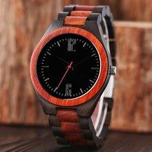 100% Original Relógios De Pulso Dos Homens Relógios de Luxo Cheio de Madeira De Bambu De Madeira Criativo Quartz Relógio de Pulso Sports Reloj de madera