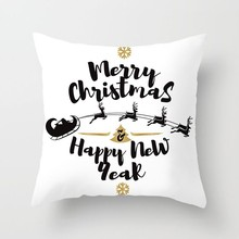 цена на Geometric White Chritmas Throw Pillow Case Sofa Car Bedroom Modern Santa Claus Pillow Cover 44*44 Snowman Pattern Cushion Cover