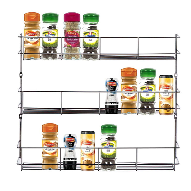 YONTREE 1 pc 2/3/4 Layers Iron Spice Rack Storage Wall Rack Kitchen Tools Holder High Quality