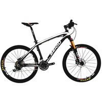 BEIOU Carbon 26 Inch Mountain Bike Hardtail Trail Bicycle 30 Speed S H I M A N O M610 DEORE MTB 10.8 kg multicolor BOCB05