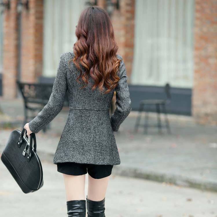 Nuevo  invierno primavera mujer temperamento de lana chaquetas abrigos mujer cas