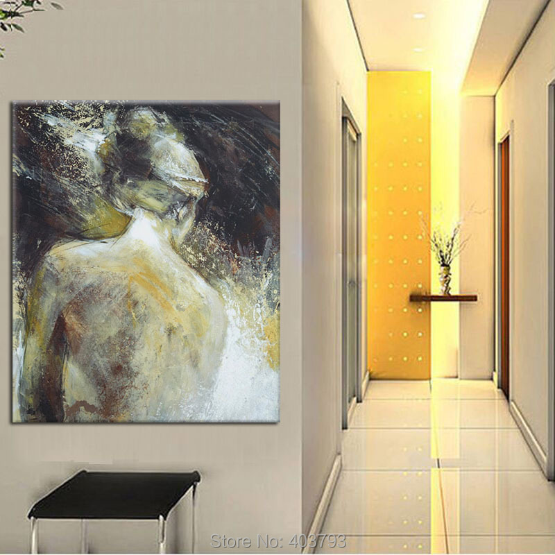 Abstract Wall Arts Modern Hand Painted Oil Painting On Canvas People ...