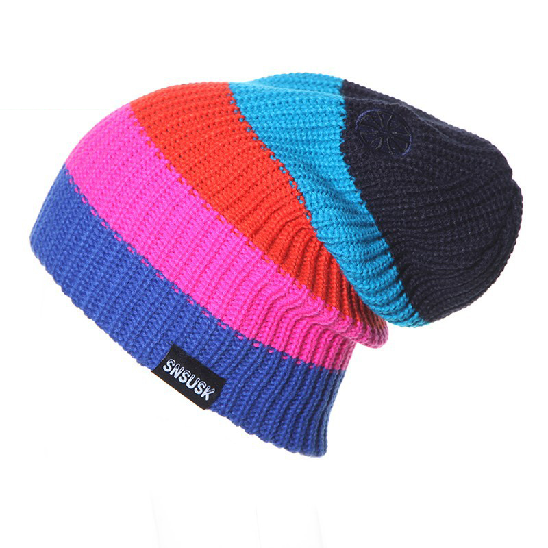 2018 New Winter gorros Brand SNSUSK Snowboard Winter Ski hat skating lot  caps skullies and beanies 0f4098274420