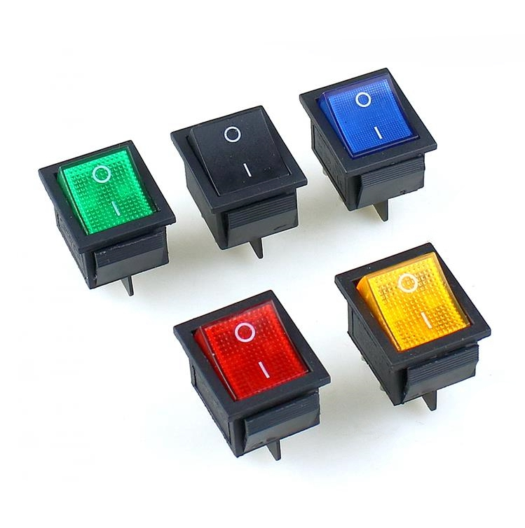 1PCS KCD4 Rocker Switch ON-OFF 2 Position 4 Pins With Light Power Switch 16A 250VAC/ 20A 125VAC