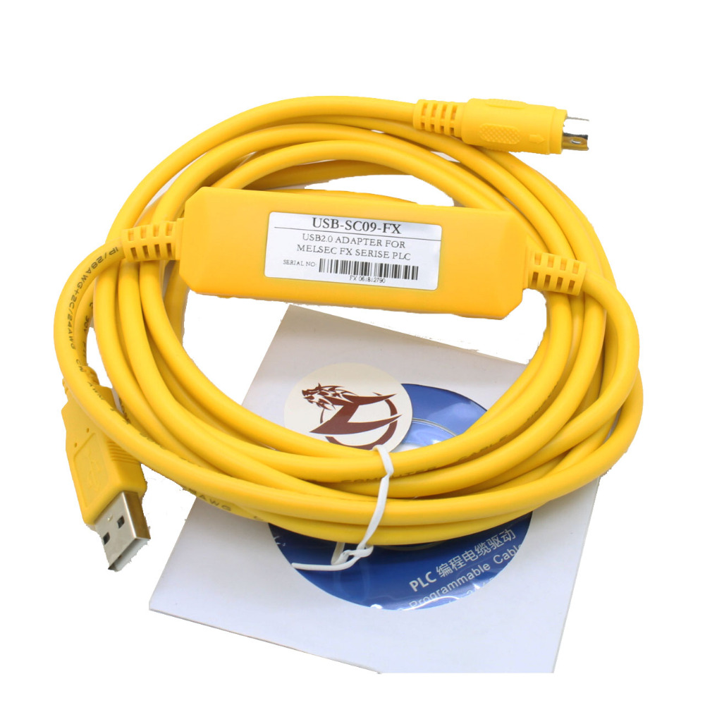 Free shipping USB-SC09-FX PLC Programming Cable SC-09 SC09 FX free shipping usb sh koyo sh series usb plc programming cable