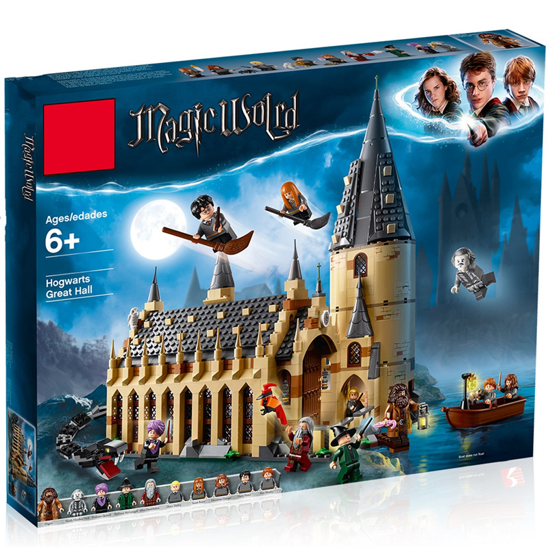 New Harri Potter Sets 75954 75953 75955 75951 75952 Compatible Legoing Model Building Kits Castle Hall Blocks Bricks Toys Gift