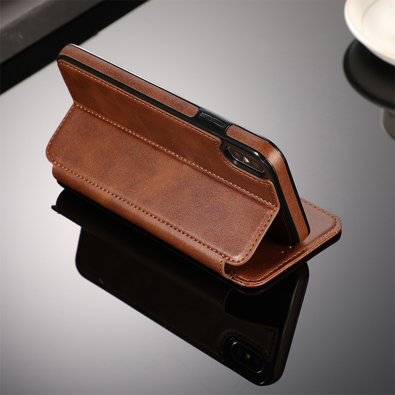 Luxury Vintage Leather Wallet Case For iPhone 7 8 Plus X Xs Case For iPhone Xr Xs Max 6 6s Magnetic Card Solt Pocket Coque Capa