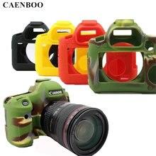 Caenboo 6D 70D 60D Камера сумка Мягкая силиконовая резина защитный Камера тела кожного покрова чехол для Canon EOS 6D камуфляж черный, красный