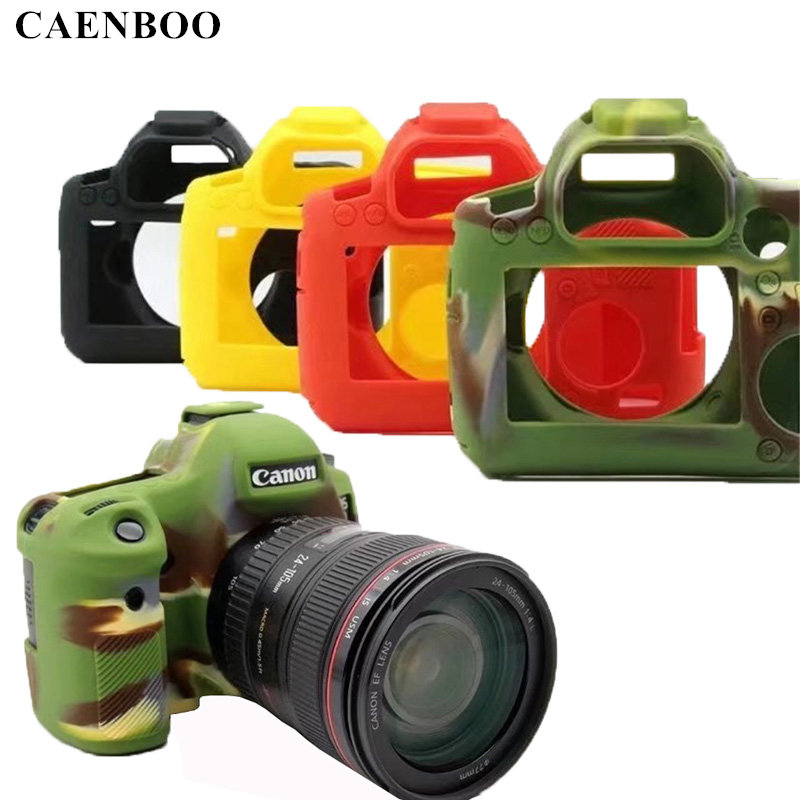CAENBOO 6D 70D <font><b>60D</b></font> Camera Bag Soft Silicone Rubber Protective Camera Body <font><b>Cover</b></font> Case Skin for <font><b>Canon</b></font> EOS 6D Camouflage Black Red image