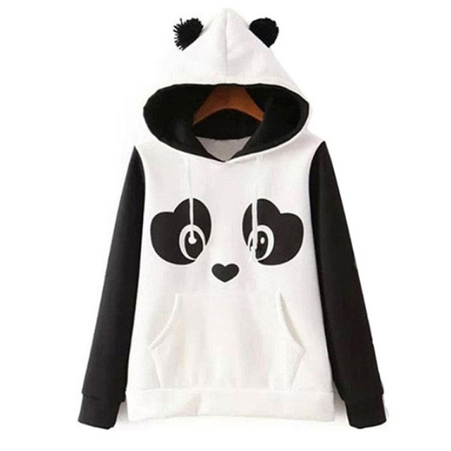146dc03de Champion Sweatshirt Woman Hooded Sweatshirts Cute Panda Print Pullover  Fleece Long Sleeve Hoodie Sweatshirt Winter Pullover Top