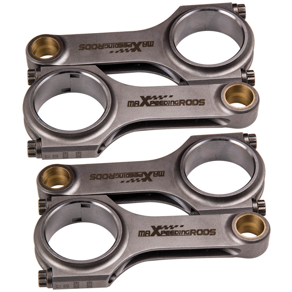 4PCS Forged Conrods Connecting Rods For Yamaha V-Max Vmax Con Rods Pleuel Bielle 124mm