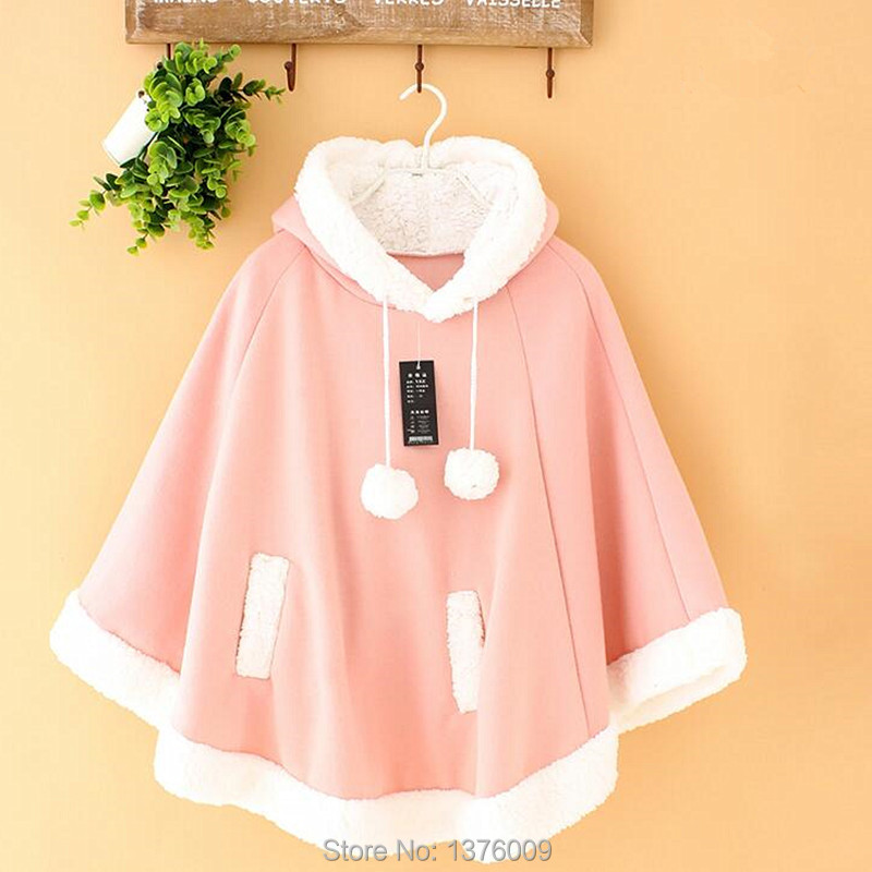 Women Winter Cloak Coat Jacket Wothout Button Women's Coat Mori Girl Sweet Outwear Harajuku School Commute Cute
