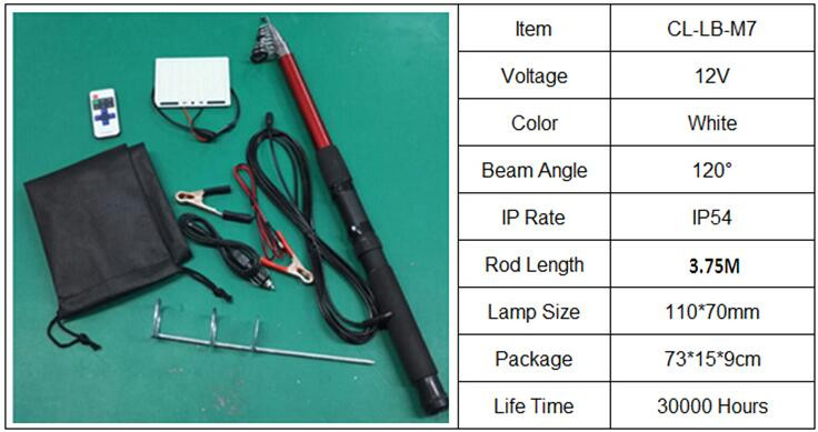 4M led fishing rod lights