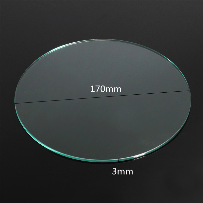 NEW 3D Printer Borosilicate Glass Build Plate 170x3mm For Heated Bed Prusa / Mendel 3d printer kit Parts Accessories