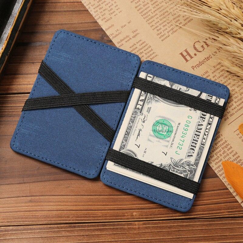 JINBAOLAI Slim Male Magic Wallet Scrub PU Leather Purse High Quality Carteira Magica Masculina Porte Monnaie Small Wallets 2018 2