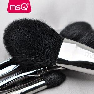 Image 4 - Msq Professionele 11 Pcs Poeder Make Up Kwasten Set Klassieke Oogschaduw Lip Foundation Make Up Borstel Geit/Paard Haar Pvc handvat